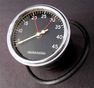 Vtg Stewart Warner 4500 Tach Gauge Curved Glass 50s Hot Rod 6 Volt 29 32 Ford