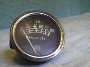Stewart Warner Oil Guage SW Ratrod Rat Rod Oil Pressure Guage Gauge