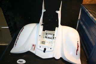 2005 Yamaha Raptor 660 White Plastic Rear Fenders Broken Tabs