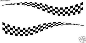 Checkered Flag Decal Boat Truck Muscle Car Enclosed Trailer Cargo Race Graphics