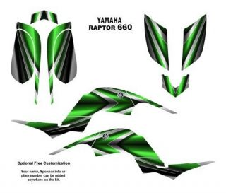 Yamaha Raptor 660 ATV Graphics Decal Kit 2222GREEN