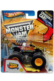 2013 Hot Wheels Monster Jam Team Hot Wheels Firestorm Includes Crushable Car