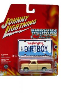 Johnny Lightning Working Class 1965 Chevy Pickup White Lightning