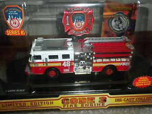Code 3 Fire Engine Limited Edition FDNY Truck 46 City of New Your Series 3