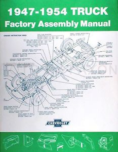 Chevrolet Pickup Truck Assembly Manual 1948 1949 1950 1951 1952 1953 Chevy