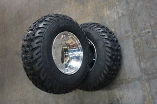 Yamaha Raptor Front Tires 21x7x10 350 660 700 Bazooka with Rims Mounted Front
