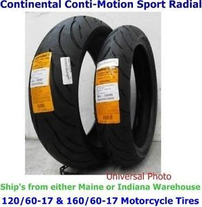 120 60 17 Front 160 60 17 Rear Continental Conti Motion Motorcycle Tires
