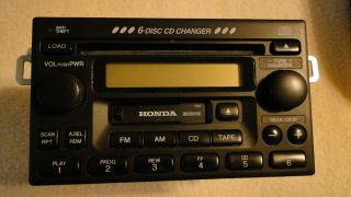 Honda Accord Civic CR V Odyssey 6 Disc Changer Radio Stereo Tape 98 2000