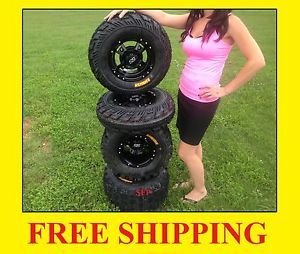 4 New Yamaha Raptor 660 ITP SS112 Black Rims on CST Ambush Tires Wheels Kit YFM