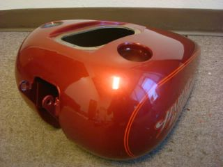 04 Harley Davidson Dyna Super Glide Custom Petrol Fuel Gas Tank Red