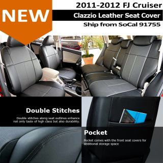 Clazzio Custom Perfect Fit Leather Seat Cover Black 11 13 Toyota FJ Cruiser