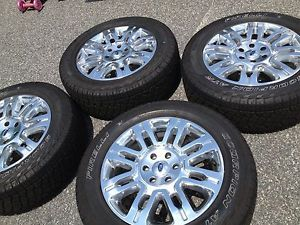 "Ford F150 Platinum 20"" Wheels Tires Set of Four w TPMS All Accessories"