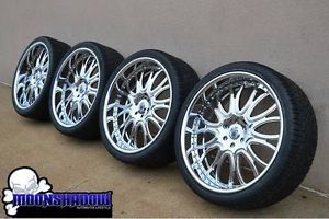"26"" asanti AF145 Chrome Wheels Rims Cadillac Escalade Chevy Tahoe Forgiato Tires"