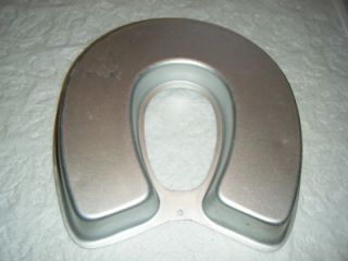 Horseshoe Shape Cake Pan Good Luck Letter U or C Wilton Aluminum