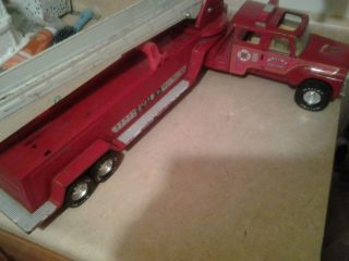 Vintage Nylint Aerial Hook N Ladder Red Fire Engine Semi Truck Rehab 1975 1982