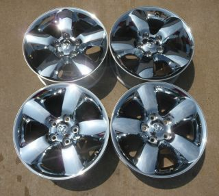 "2014 Dodge RAM 1500 20"" Factory Chrome Clad Alloy Wheels 2450"
