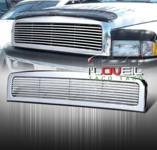 94 95 96 97 98 99 00 01 Dodge RAM 1500 Billet Front Upper Chrome Grille Grill