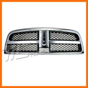 2009 2011 Dodge RAM 1500 SLT St Laramie Chrome Grille Grill Front Body Parts