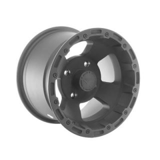 "Summit Racing 161 ATV Series Matte Black Bruiser Wheel 12""x8"" 4x115mm"