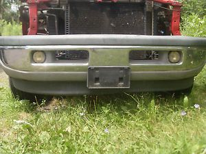 99 Dodge RAM 1500 Laramie Complete Front Bumper Under Grill Down