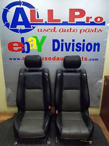 2002 2006 Nissan Altima SE R Front Seat Set Black Leather Bucket Seats C