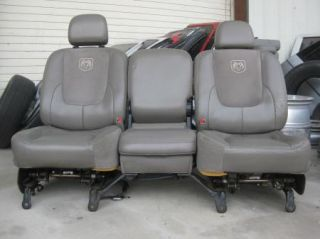 2002 2006 Dodge RAM 1500 Pickup Quad Cab Complete Leather Seat Door Panel Set
