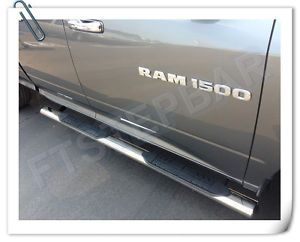 "2013 Dodge RAM 1500 2500 Quad Cab 4"" Oval SS Nerf Steps Bars Running Boards"
