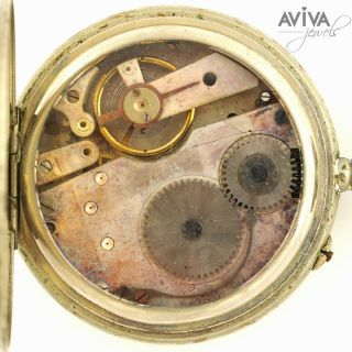 Triple Calendar with Moon Phase Pocket Watch in Base Metal Case