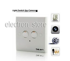 Motion Detection Light Switch Security Wall Hidden Camera DVR Spy Camcorder