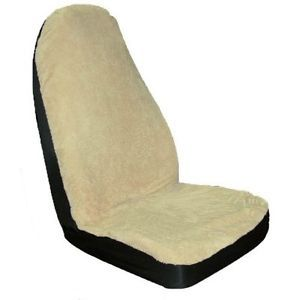 2 New Microfiber Tan Ford Bronco Mustang Fusion Bucket Seat Covers Car Truck SUV