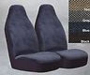 2 Ford Escort Bucket Seat Covers Car Truck Velvet Grey