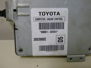 2005 2006 Toyota Corolla Matrix ECU ECM Engine Computer 89661 02D51