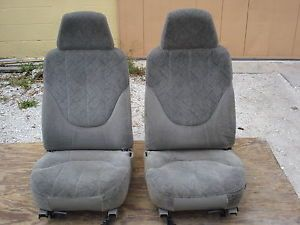 Pewter Light Gray Cloth Bucket Seats Chevy S10 Xtreme Truck Blazer GMC Sonoma