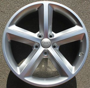 "One Audi A4 18"" 5 Spoke Alloy Wheel Genuine New 8J Front or Rear s Line S4 Arm"