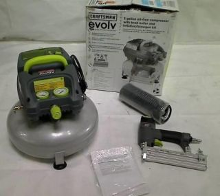 Craftsman Evolv 3 Gallon Pancake Air Compressor w Brad Nailer