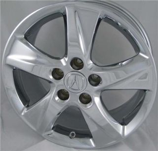 "17"" Chrome Acura TSX Factory OEM Wheels Rims 2009 2011"