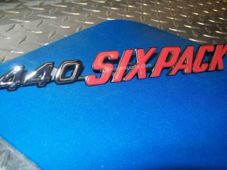 Dodge Challenger 1970 1971 440 Six Pack Hood Emblems Left Right Pair Mopar New