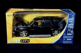 2002 Cadillac Escalade Black Dub City Diecast 1 24 Scale Black