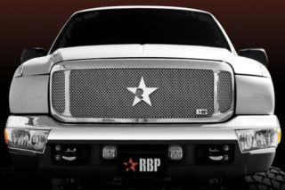 RBP 154570 Ford F 250 Main Billet Grille Insert RL Series Chrome Truck Grill 1