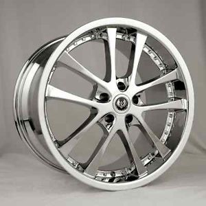 "19"" Stern Chrome Wheels Rims Acura TL RL TSX Ford Honda Accord Civic Mazda RX8"