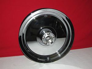 "Harley Davidson Fat Boy Mirrored Chrome Front Wheel Used 16"" P N 41271 07"