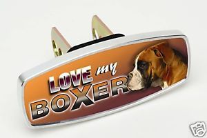 Love My Boxer Pet Dog Hitch Cap Plug Receiver Cover