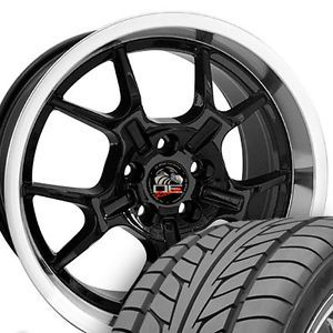 "18"" 9 10 20 Black GT4 Wheels Nitto Tires Rims Fit Mustang® '05 Up"