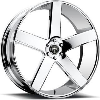 22x9 5 Chrome Dub Baller S115 Wheels 5x4 75 10 Lifted Chevrolet GMC