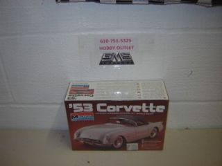 Monogram Plastic Model Kit 2291 1953 Chevy Corvette 1 24 Scale gms Customs