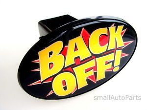 "Back Off Tow Hitch Cover Car Truck SUV Trailer 2"" Receiver Plug Cap"