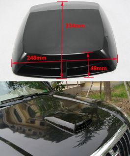 Universal Auto Decorative Air Flow Intake Scoop Turbo Bonnet Vent Cover Hood