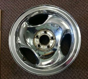 "95 96 97 98 Ford Explorer Ranger 16"" Chrome Steel Wheel Used Rim 3202"