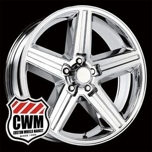 "20x8"" IROC Z Style Chrome Wheels Rims 5x4 75"" for Chevy El Camino 1987"