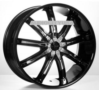 "22"" VC29 BK Wheels and Tires Rims for Chevy Tahoe Escalade Yukon RAM Ford"